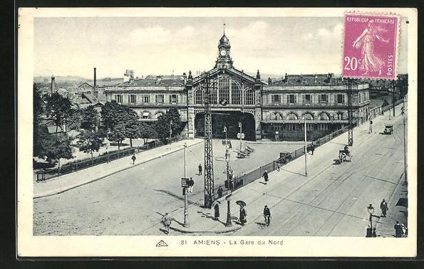 AK Amiens, La Gare du Nord, Blick auf das Bahnhofsgebäude
