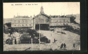AK Amiens, La Gare du Nord, Bahnhof aus der Vogelschau
