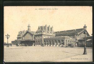 AK Arras, La Gare, Blick zum Bahnhof