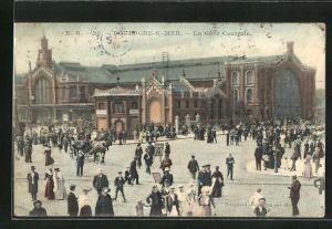 AK Boulogne-sur-Mer, La Gare Centrale, Szene am Bahnhof