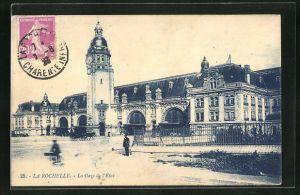 AK La rochelle, La Gare de l` Etat, Blick zum Bahnhof