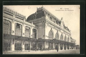 AK Lyon, Nouvelle Gare des Brotteaux, Bahnhof