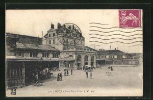 AK Dijon, Gare Dijon-Ville, Bahnhof mit Vorplatz