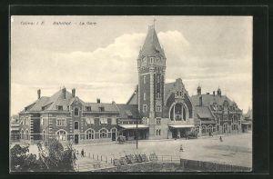 AK Colmar, La Gare, Blick zum Bahnhof
