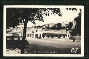 AK Granville, La Gare, Blick zum Bahnhof