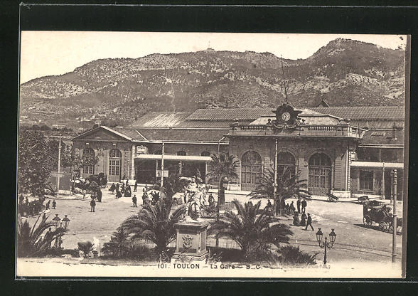 AK Toulon, La Gare, Bahnhofsgebäude