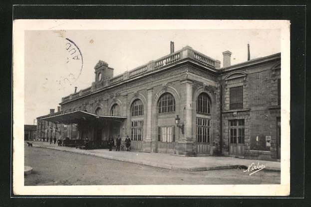 AK Narbonne, La Gare, Bahnhofsgebäude
