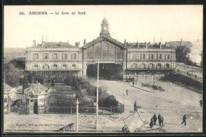 AK Amiens, La Gare du Nord