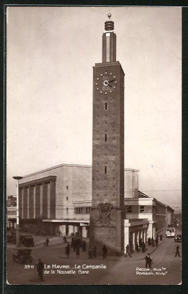 AK Le Havre, Le Campanile de la Nouvelle Gare