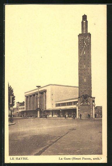 AK Le Havre, La Gare, Blick zum Bahnhofsgebäude