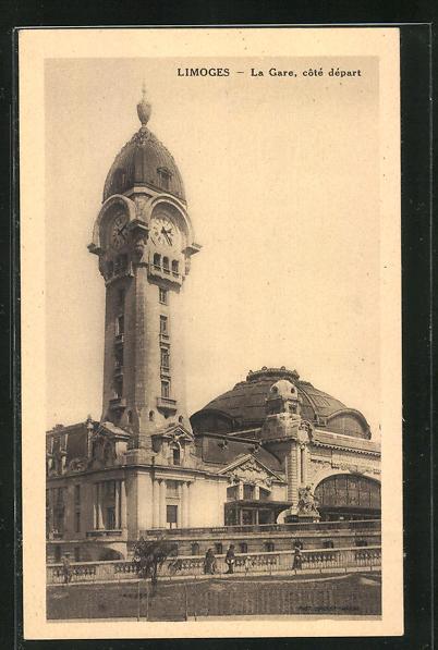 AK Limoges, La Gare, Blick auf das Bahnhofsgebäude
