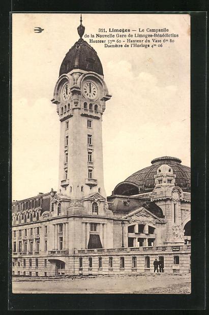 AK Limoges, Le Campanile de la Nouvelle Gare