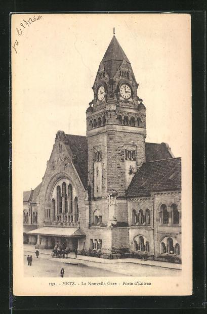 AK Metz, La Nouvelle Gare, porte d'Entree