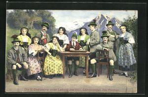 AK Die 12 Obersteirer unter Leitung des steir. Komponisten Jos. Pircher