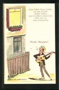 AK Prosit Neujahr!, Leise flehen Deine Lieder..., Halt gegen das Licht, Scherz