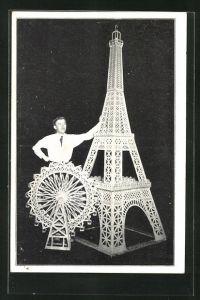 AK Der Eifelturm & Das Wiener Riesenrad, Modellbau