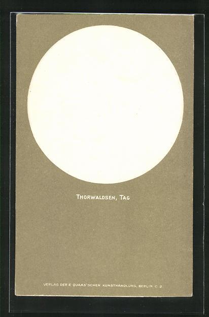 Relief-AK Thorwaldsen, Tag, Engel, Jugendstil