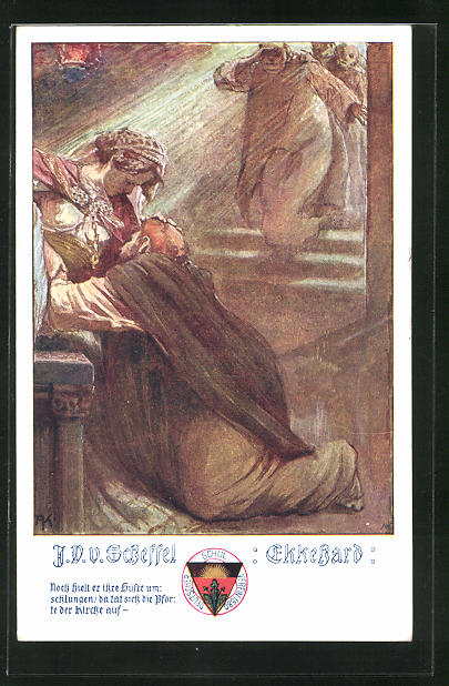 AK Deutscher Schulverein Nr. 496: V. v. Scheffel: Ekkehard