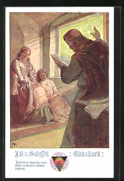 AK Deutscher Schulverein Nr. 493: V. v. Scheffel: Ekkehard