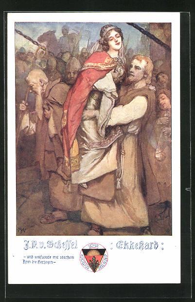 AK Deutscher Schulverein Nr. 488: V. v. Scheffel: Ekkehard