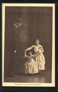 AK Andenken an Prinzessin Elisabeth, Liliputaner
