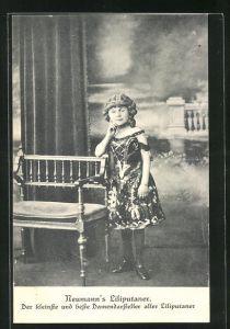 AK Neumann`s Liliputaner, der kleinste und beste Damendarsteller aller Liliputaner