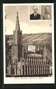 AK Miniaturwerk Ulmer Münster, Porträt der Erbauer Willi Maier & M.Goratzka
