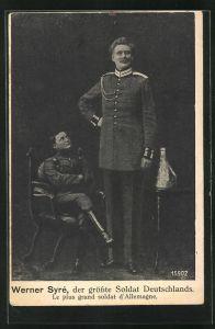 AK Werner Syre, der grösste Soldat Deutschlands