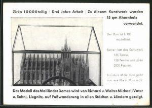 AK Modell des Mailänder Domes von R. und W. Michael