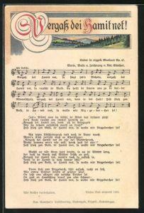 Lied-AK Anton Günther Nr. 47: Lied in erzgeb. Mundart Vergass dei Hamit net!