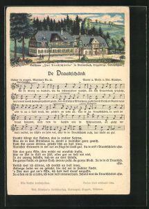 Lied-AK Anton Günther Nr. 25: Lied in erzgeb. Mundart De Draakschänk