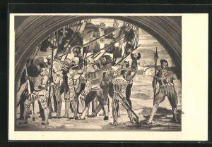 Künstler-AK Ferdinand Hodler: Rückzug von Marignano