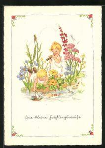 Künstler-AK Liesel Lauterborn: Eine kleine Frühlingsweise