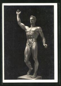 Künstler-AK Arno Breker: Skulptur Der Künder, Totalansicht
