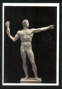 Künstler-AK Arno Breker: Totalansicht der Monumentalfigur mit Fackel