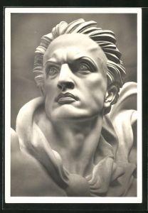Künstler-AK Arno Breker: Kopf der Skulptur Der Wächter