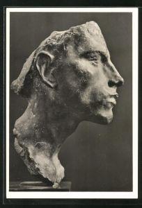 Künstler-AK Arno Breker: Studie eines menschlichen Kopfes