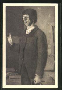 Künstler-AK Ferdinand Hodler: Der Student, 1874