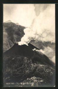AK Vesuvio, Il piccolo cono, Nebenkrater des Vulkans Vesuv