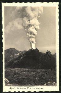 AK Napoli, Conetto del Vesuvio in eruzione, Vulkan Vesuv