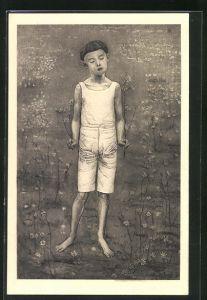 Künstler-AK Ferdinand Hodler: Knabe stehend
