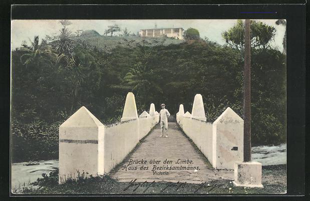 AK Victoria, Brücke über den Limbe, Haus des Bezirksamtmanns