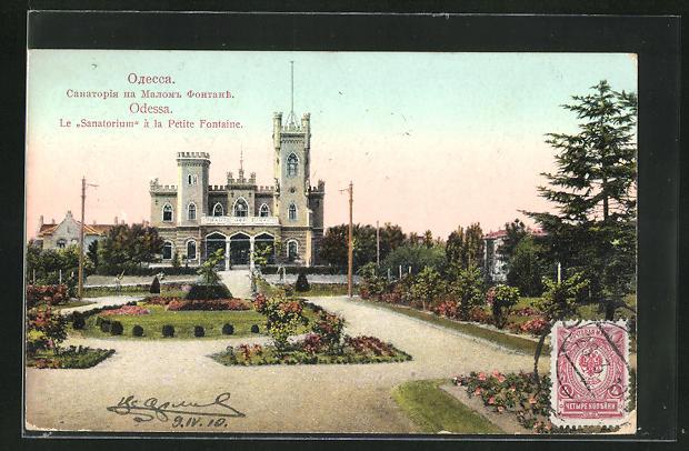 AK Odessa, Le Sanatorium a la Petite Fontaine