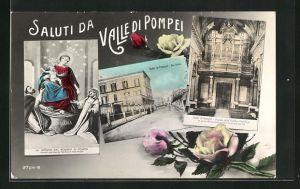 Passepartout-AK Valle di Pompei, Via Sacra, Organo della Basilica Pontificia, La Vergine del Rosario