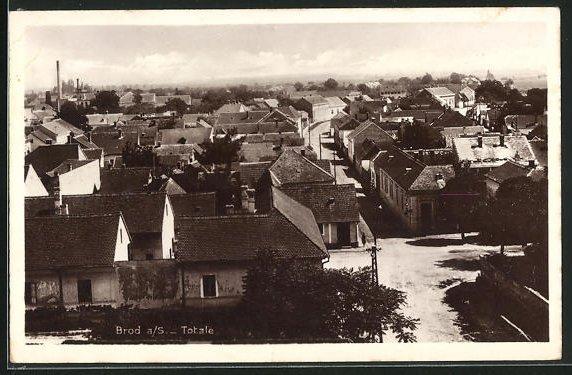 AK Brod a. S., Teilansicht der Ortschaft