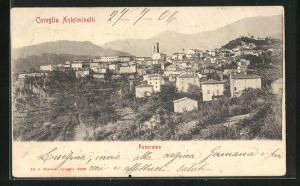 AK Coreglia Antelminelli, Panoramablick vom Berg gesehen