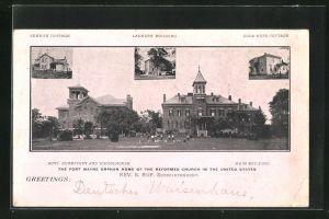 AK Fort Wayne, MI, Boy's Dormitory, Schoolhouse and Main Building