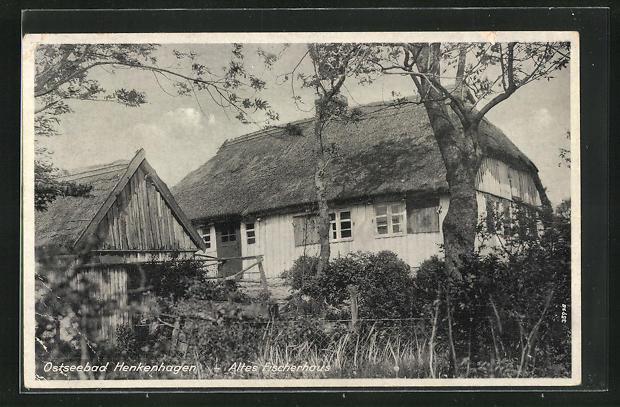 AK Henkenhagen, altes Fischerhaus