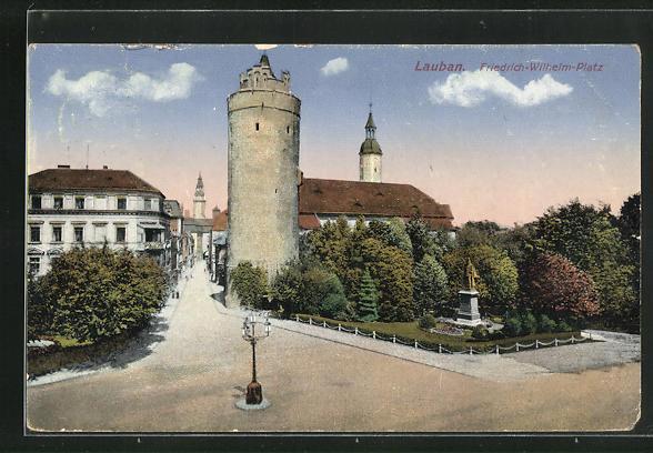 AK Lauban, Blick auf den Friedrich-Wilhelm-Platz