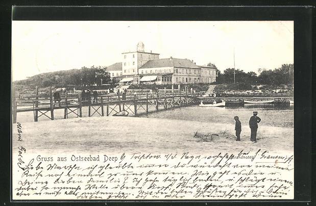 AK Deep, Blick vom Ufer zum Strandhotel